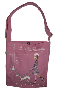 Little Bag coton bio Promenade Parisienne ouvert Zazazou300