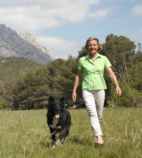 Blandine Damour Presidente Animal Fute et son chien Filou  OK