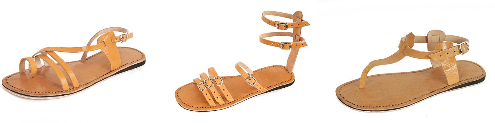Trio sandales femmes