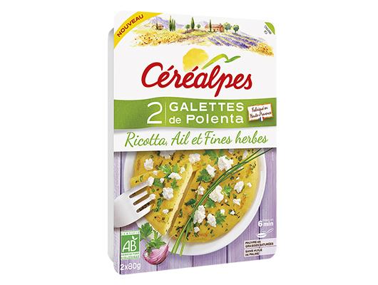 CEREALPES - Galettes de Polenta Ricotta, Ail et Fines herbes bio