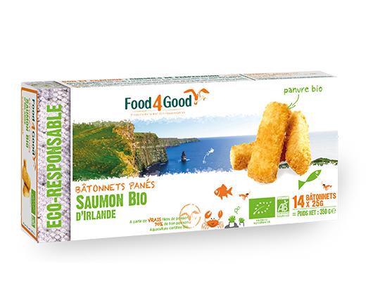 FOOD 4 GOOD - Bâtonnets panés de poissons bio