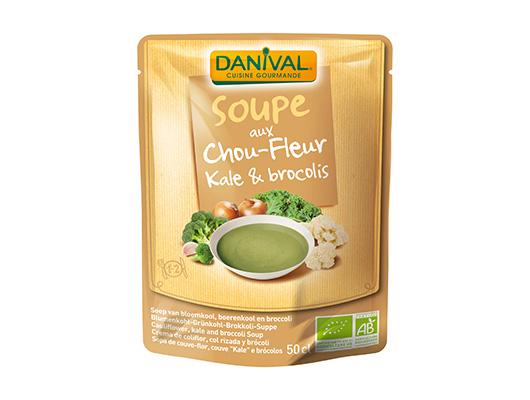 DANIVAL- Soupe aux chou-fleur, kale & brocoli bio