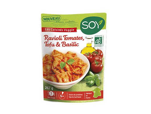 SOY - Ravioli tomates, tofu et basilic bio